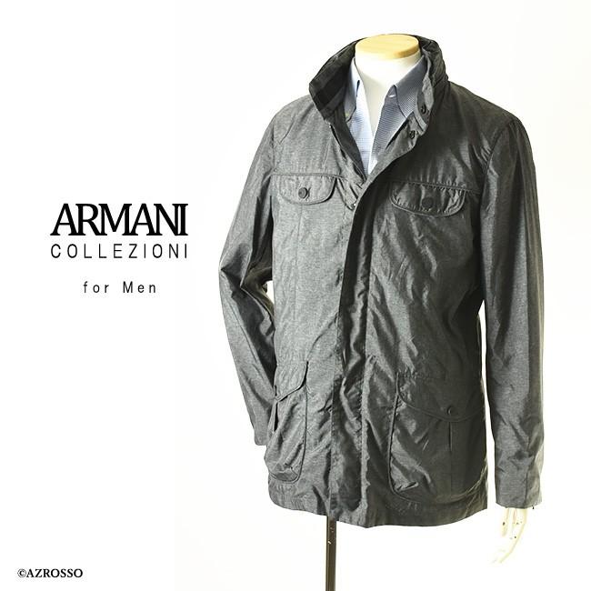 ジップアップブルゾン 【ARMANI COLLEZIONI】アルマーニ コレツィオーニ モデル画像