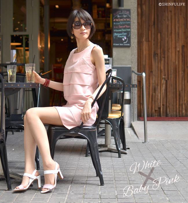 セレブが愛するブランドと同じ品質を手に入れる【CORSO ROMA9】コルソローマ9 イタリア製 レザーサンダル モデル画像 ホワイト/ベイビーピンク