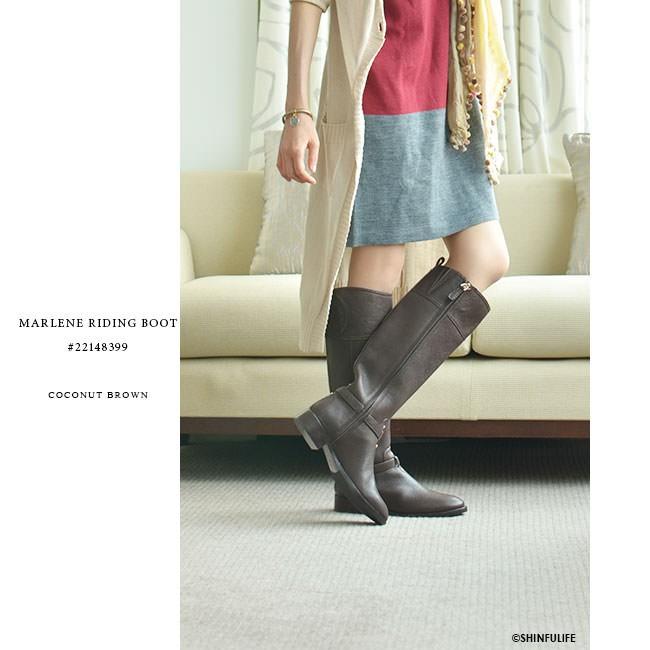 ロングブーツ マレーネライディングブーツ トリーバーチ TORY BURCH 正規品 MARLENE RIDING 黒 ブラック ブラウン 靴 大きいサイズ 送料無料 モデル画像 ココナッツブラウン2