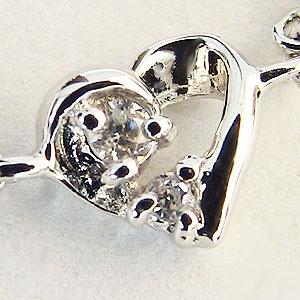 ハートリング チェーンリング ダイヤモンドリング ダイヤモンド指輪 ダイヤモンド サイズフリー K18WG