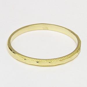 ペアリング シンプル 結婚指輪 K18 ゴールド デザインカットリング 宝石なし指輪 マリッジリング