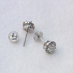 メンズ:ダイヤモンド:0.69ct:ピアス:PT900:プラチナ900:シリコンキャッチ付き: