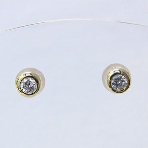 メンズ:ダイヤモンド:0.20ct:ピアス:K18:ゴールド