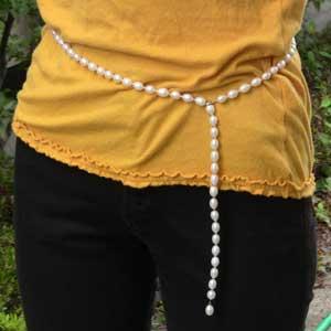 真珠:ロングネックレス:パール:淡水パール