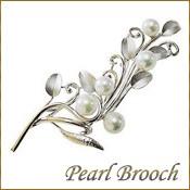 パールブローチ コサージュ 真珠ブローチ パール 真珠 ブローチ あこや本真珠 6mm シルバー