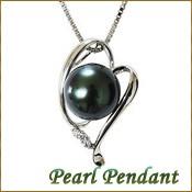 ペンダント ネックレス レディース パール 黒真珠 ブラックパール 11mm 真珠ネックレス パールネックレス キュービックジルコニア付き シルバー