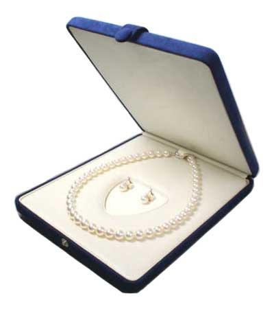 真珠 ネックレス ピアス イヤリング ケース 紺 パールキーパー 真珠科学研究所が開発監修
