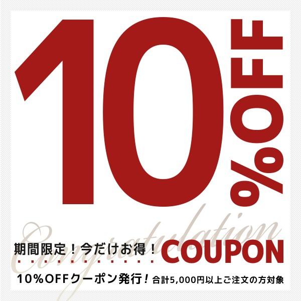 10%OFFクーポン発行!合計5,400円以上ご注文の方対象