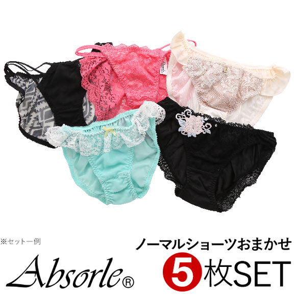 (アブソール)Absorle ノーマル ショーツ 5枚組 福袋 おまかせ セット まとめ買い