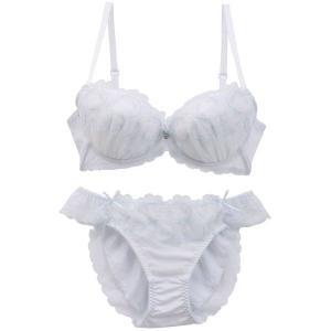 ドルチェフィオラ Dolce Fiora ミッドナイトムーン 3/4カップ ブラジャー ショーツ セット 大きいサイズ|SHIROHATO(白鳩)