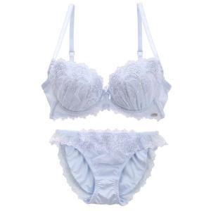 ドルチェフィオラホワイト Dolce Fiora white ステラジェム ブラジャー ショーツ セット 大きいサイズ|SHIROHATO(白鳩)