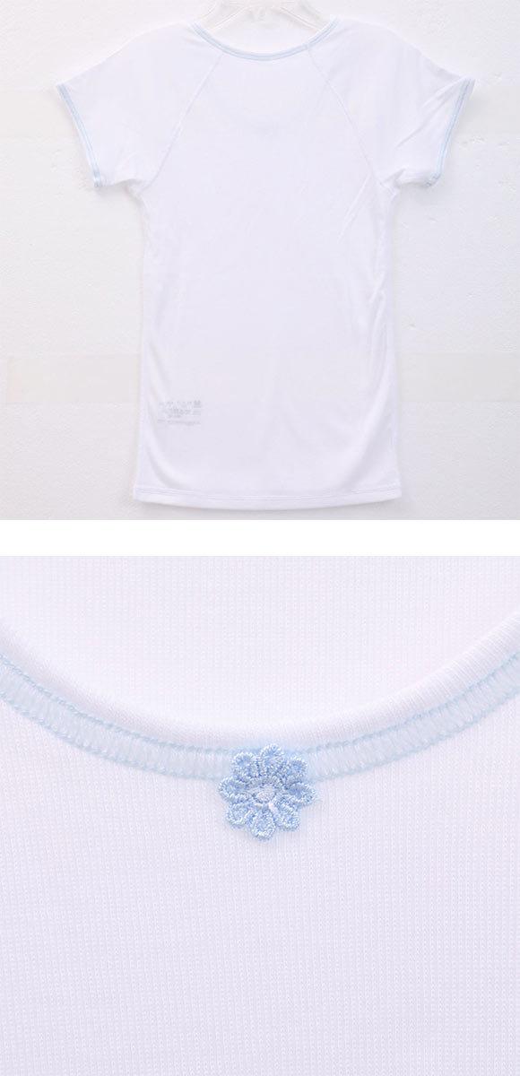 (ワコール)Wacoal (フェアリーティアラ)FAiRY TiARA 半袖 Tシャツ インナー 120 130 140 女の子 キッズ ジュニア