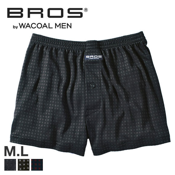 (ブロス バイ ワコールメン)BROS by WACOAL MEN 着ごこちゆったり ブロックプリント ニットトランクス ML