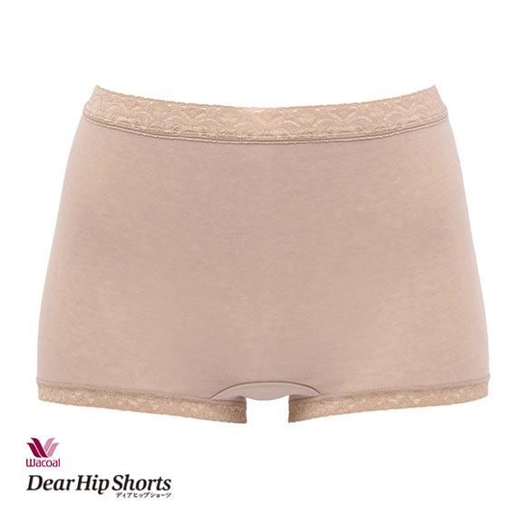 (ワコール)Wacoal (ディアヒップショーツ)DearHip Shorts 綿混 スタンダード ボーイレングスショーツ ML