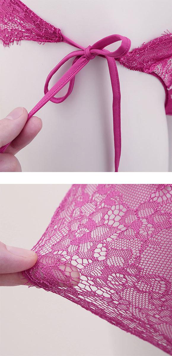 (セントオードリー)St.Audrey tiara エレガントローズパフューム ショーツ サイドリボン 紐パン 単品 バックレース