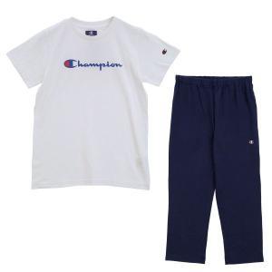 (チャンピオン)Champion レディース 半袖 Tシャツ 7分丈パンツ 上下セット ルームウェア パジャマ スクリプトロゴ|shirohato|15
