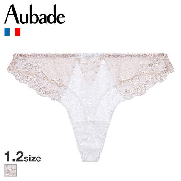 (オーバドゥ)Aubade Soleil Nocturne ショーツ Tバック 総レース タンガ 単品 20SS OPALE