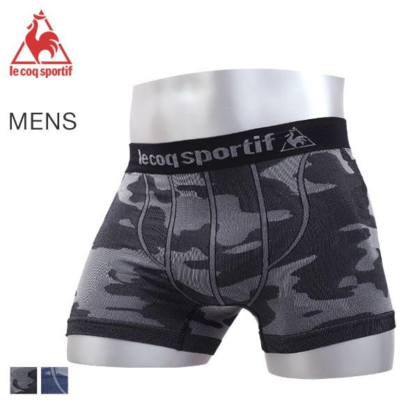 (ルコックスポルティフ)lecoq sportif 立体成型 ボクサーパンツ メンズ 前とじ 迷彩柄