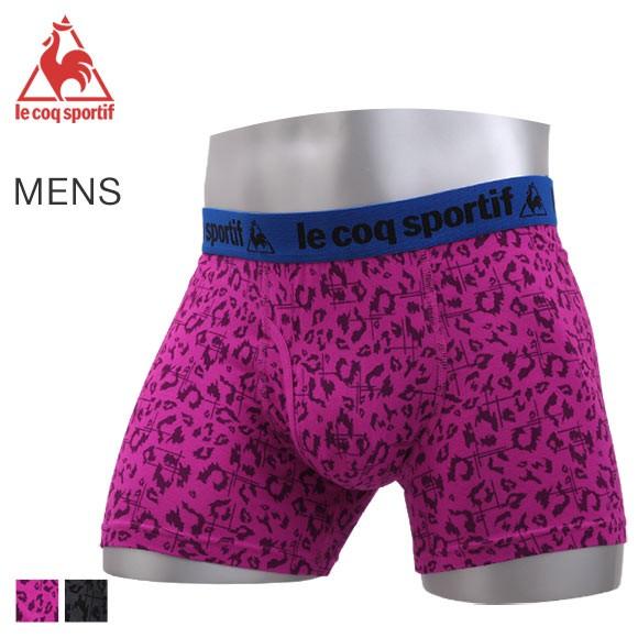 (ルコックスポルティフ)lecoq sportif ボクサーパンツ メンズ 前あき 綿混ベア天 レオパード柄