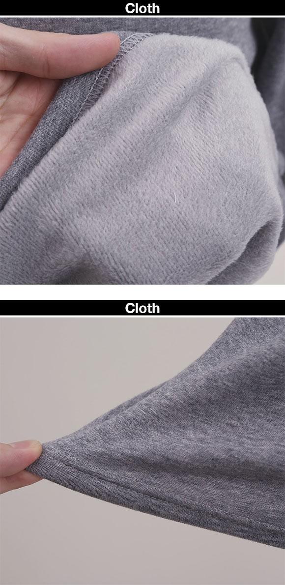 毛布のような着心地 裏ボア 長袖 クルーネック Tシャツ