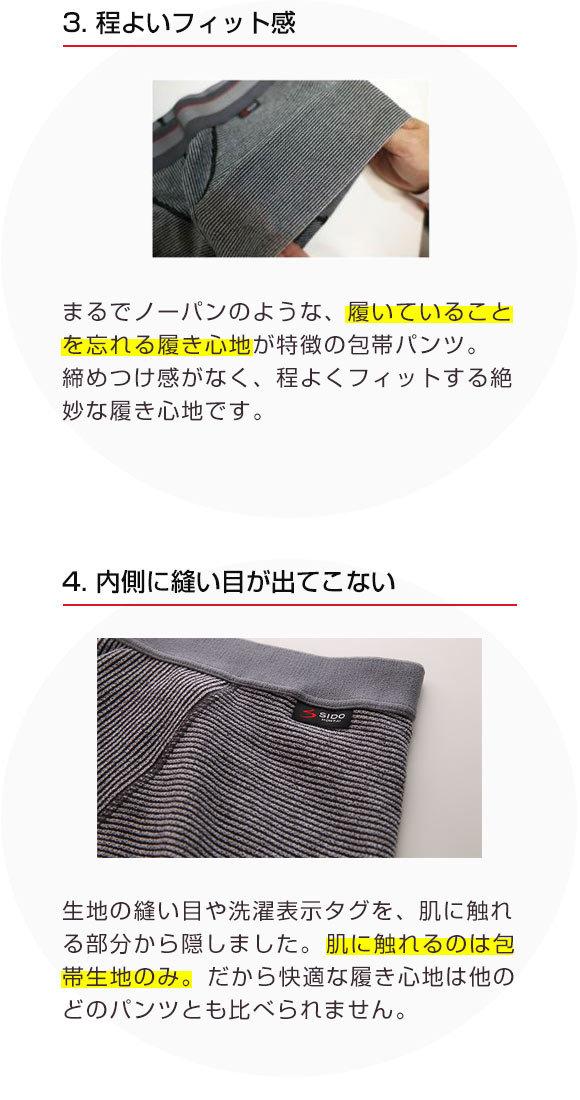 (シドー)SIDO 包帯パンツ ショート ボクサーパンツ ノンヘム 前閉じ M L 1024