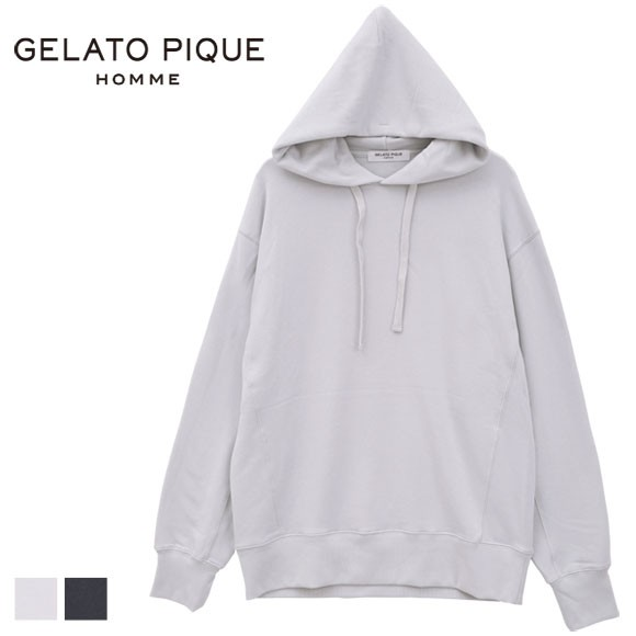 (ジェラートピケ オム)GELATO PIQUE HOMME メンズ スウェットロゴパーカ ジェラピケ ルームウェア パジャマ
