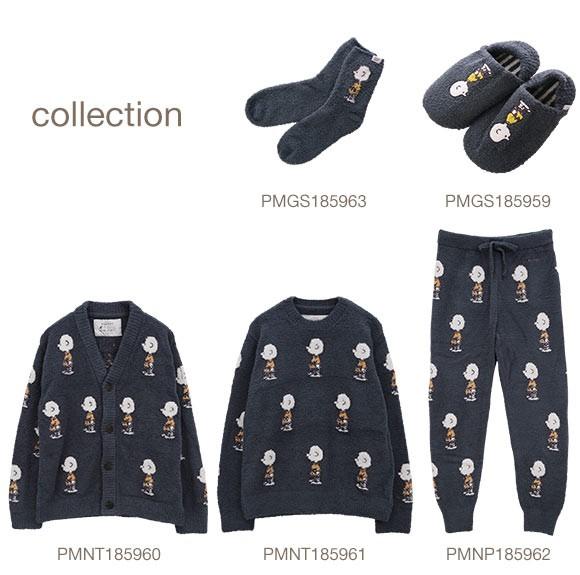 (ジェラートピケ オム)GELATO PIQUE HOMME メンズ 【PEANUTS】HOMMEジャガードプルオーバー パジャマ ルームウェア ジェラピケ
