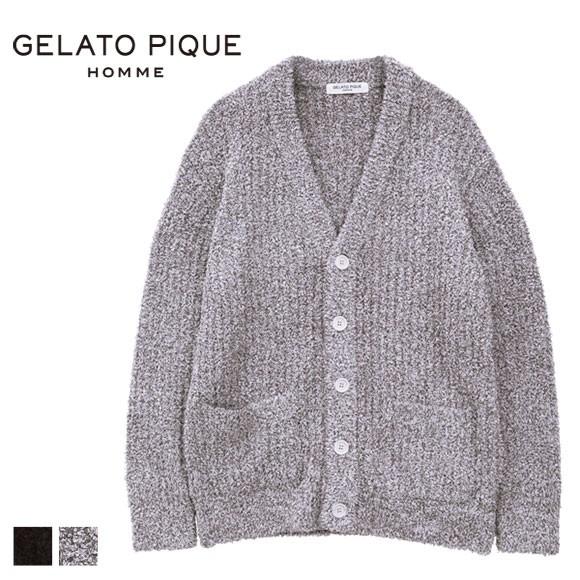 (ジェラートピケ オム)GELATO PIQUE HOMME メンズ 'バンブー'カーディガン ジェラピケ ルームウェア パジャマ