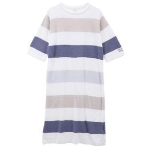 ジェラートピケ ジェラピケ レディース ドレス パジャマ ルームウェア スムーズィー 4ボーダー gelato pique|SHIROHATO(白鳩)