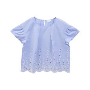 20%OFF送料無料 (キッドブルー)KID BLUE ダンガリーエンブ 半袖 トップス|shirohato|09