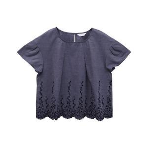 20%OFF送料無料 (キッドブルー)KID BLUE ダンガリーエンブ 半袖 トップス|shirohato|10