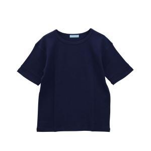50%OFF (キッドブルー)KID BLUE 17ワッフル無地 半袖トップス|shirohato|12