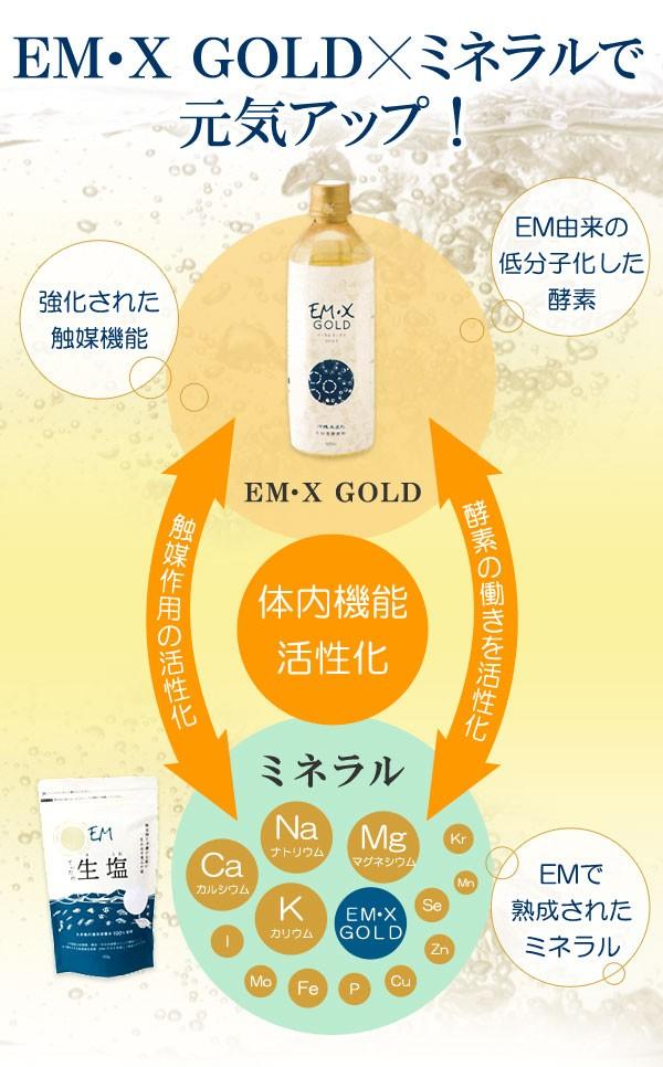 EM・X GOLDとミネラルで元気アップ!