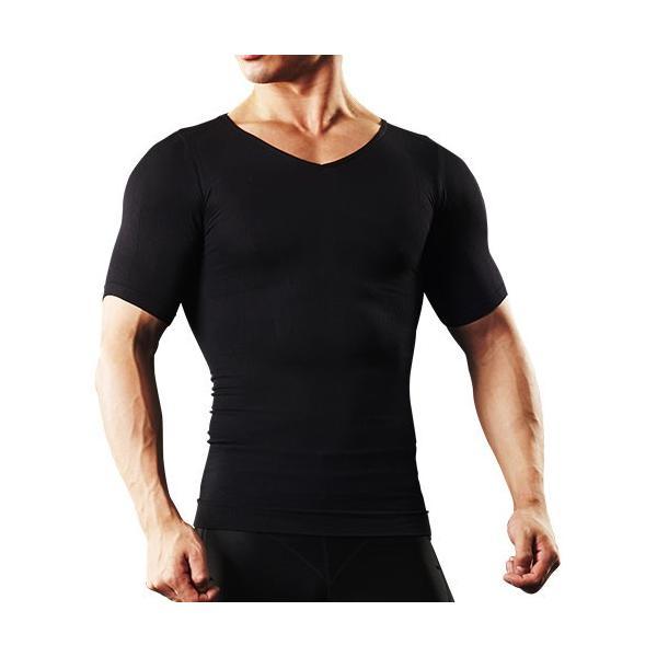 加圧シャツ メンズ 加圧インナー vネック 男性用 スパルタックス コンプレッションウェア|shizenshop|18