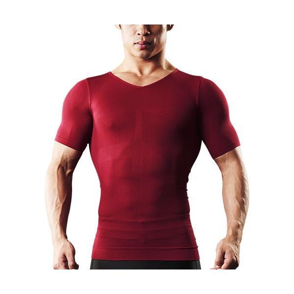 加圧シャツ メンズ 加圧インナー vネック 男性用 スパルタックス コンプレッションウェア|shizenshop|20