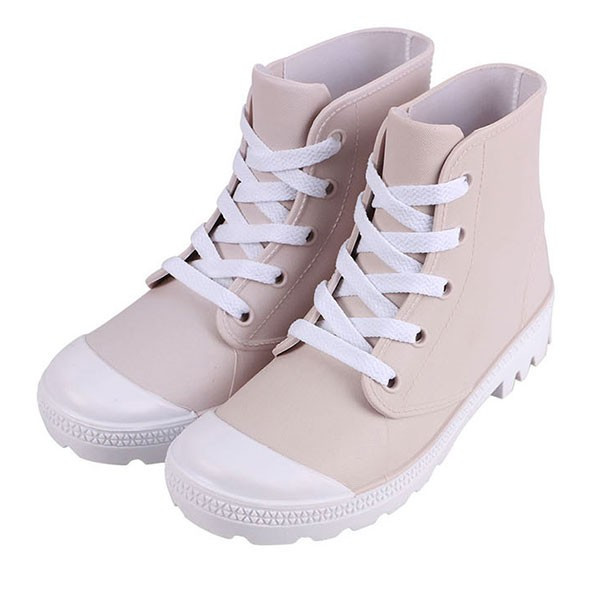 レインブーツ 長靴 レインシューズ スニーカー レディース ショート ハイカット ネイビー 白 靴紐 おしゃれ  軽量 滑り止め  防水 雨晴兼用|shizenshop|18