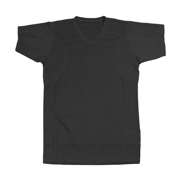 汗対策 防臭対策 脇汗インナー Tシャツ 汗を吸収するパッド付き VネックTシャツ 消臭 抗菌防臭 ワキ汗 メンズ 汗じみ 汗取り 脇汗パッド|shizenshop|09