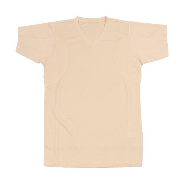 汗対策 防臭対策 脇汗インナー Tシャツ 汗を吸収するパッド付き VネックTシャツ 消臭 抗菌防臭 ワキ汗 メンズ 汗じみ 汗取り 脇汗パッド|shizenshop|11