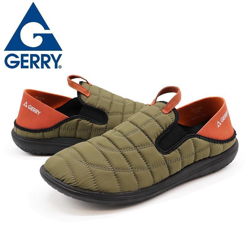 GERRY ジェリー スリッポンスニーカー メンズ アウトドア靴 2WAYモックシューズ 軽量 難燃 黒 黄 カーキ shoesstore-reodert 17