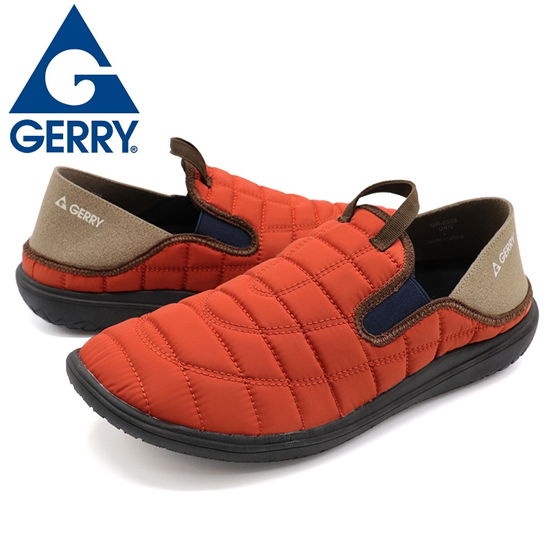 GERRY ジェリー スリッポンスニーカー メンズ アウトドア靴 2WAYモックシューズ 軽量 難燃 黒 黄 カーキ shoesstore-reodert 20