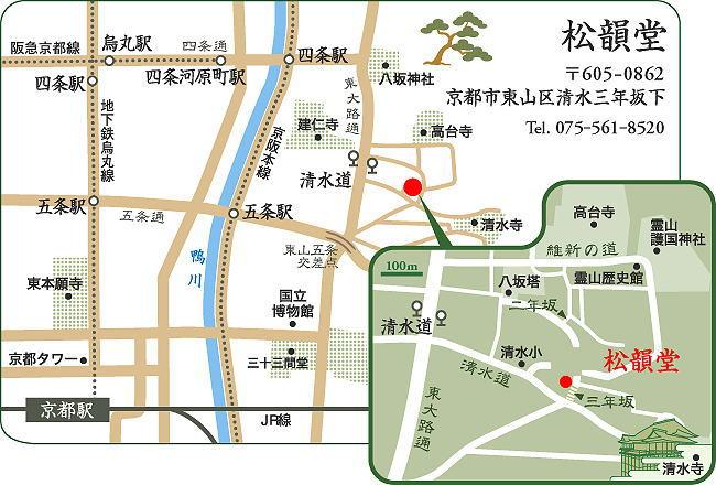 松韻堂の地図