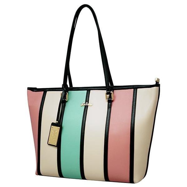 トートバッグ レディース バッグ 通勤 トート 鞄 A4サイズ マルチカラー ストライプ Clelia CL-22130-6|shop-kazzu|24