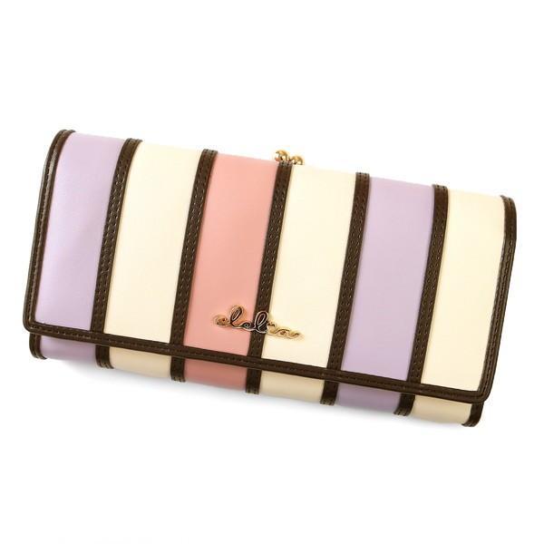 財布 長財布 レディース がま口 大容量 フラップ 札入れ 二層 ストライプ がま口長財布 Clelia CL-10269|shop-kazzu|22