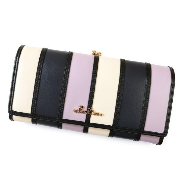 財布 長財布 レディース がま口 大容量 フラップ 札入れ 二層 ストライプ がま口長財布 Clelia CL-10269|shop-kazzu|25