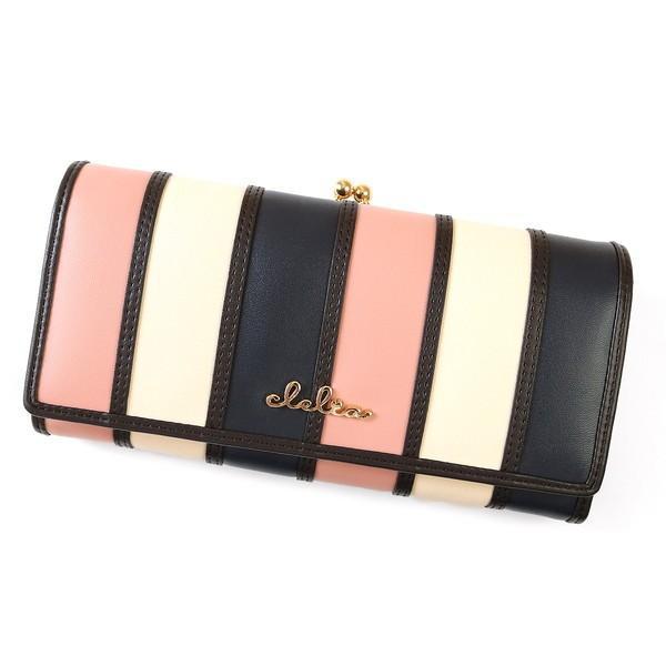 財布 長財布 レディース がま口 大容量 フラップ 札入れ 二層 ストライプ がま口長財布 Clelia CL-10269|shop-kazzu|27