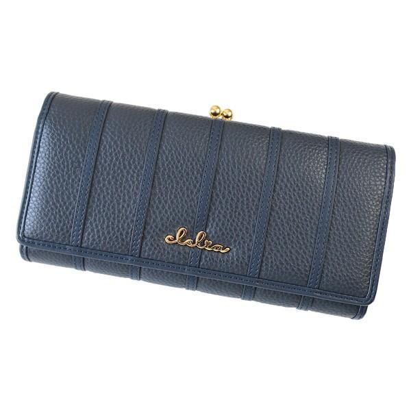 財布 長財布 レディース がま口 大容量 フラップ 札入れ 二層 ストライプ がま口長財布 Clelia CL-10269|shop-kazzu|32