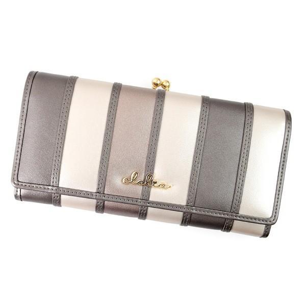 財布 長財布 レディース がま口 大容量 フラップ 札入れ 二層 ストライプ がま口長財布 Clelia CL-10269|shop-kazzu|38
