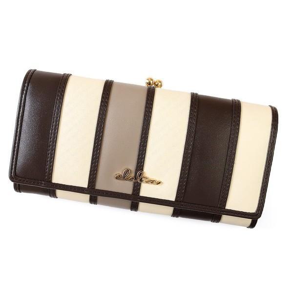 財布 長財布 レディース がま口 大容量 フラップ 札入れ 二層 ストライプ がま口長財布 Clelia CL-10269|shop-kazzu|26