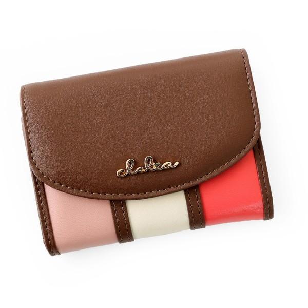 ミニ財布 レディース 三つ折り 小さい財布 極小財布 ストライプ フラップ 財布 コンパクトウォレット Clelia CL-11331|shop-kazzu|19
