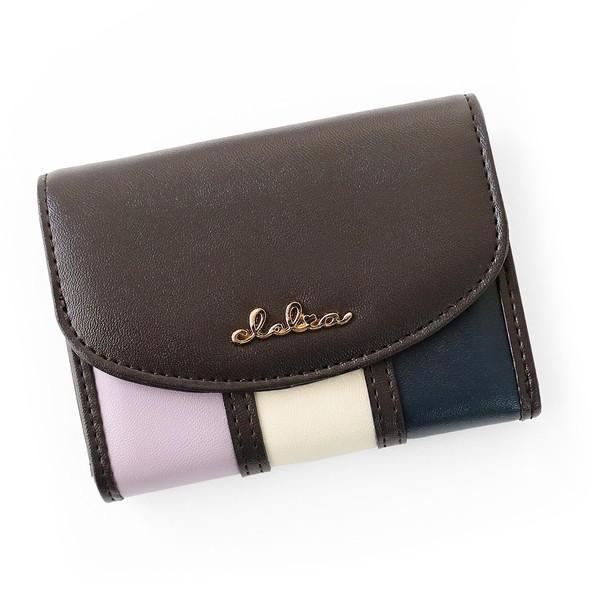 ミニ財布 レディース 三つ折り 小さい財布 極小財布 ストライプ フラップ 財布 コンパクトウォレット Clelia CL-11331|shop-kazzu|20